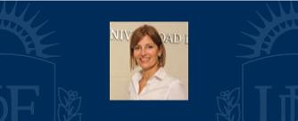 Dra. María de las Mercedes Reitano, Rectora UDE